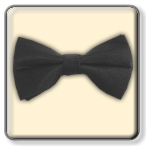 BOYS BLACK SATIN BOW